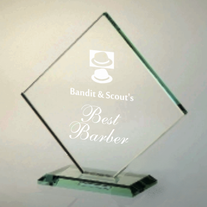 Green Glass Diamond Trophy Award